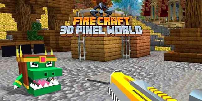 Fire Craft 3D Pixel World Free Download APK
