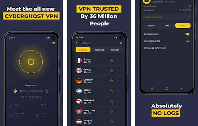 CyberGhost VPN Free Dowwnload APK
